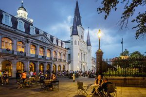 French Quarter, fortune tellers in Jackson Square