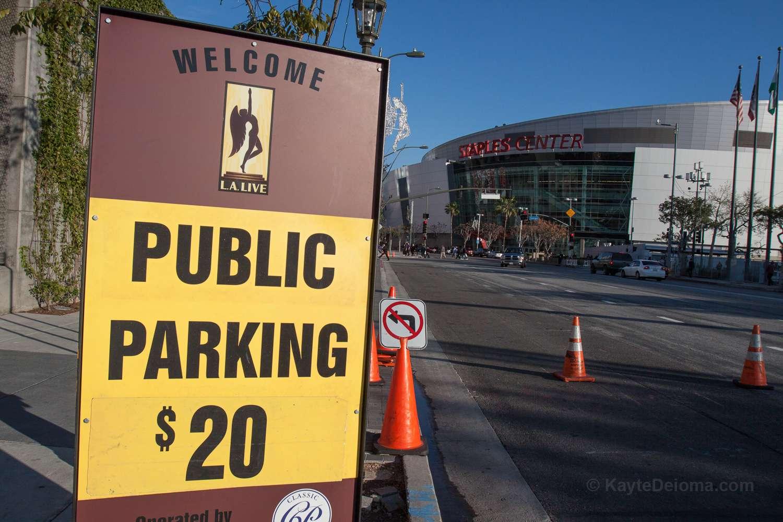 Parking at LA Live