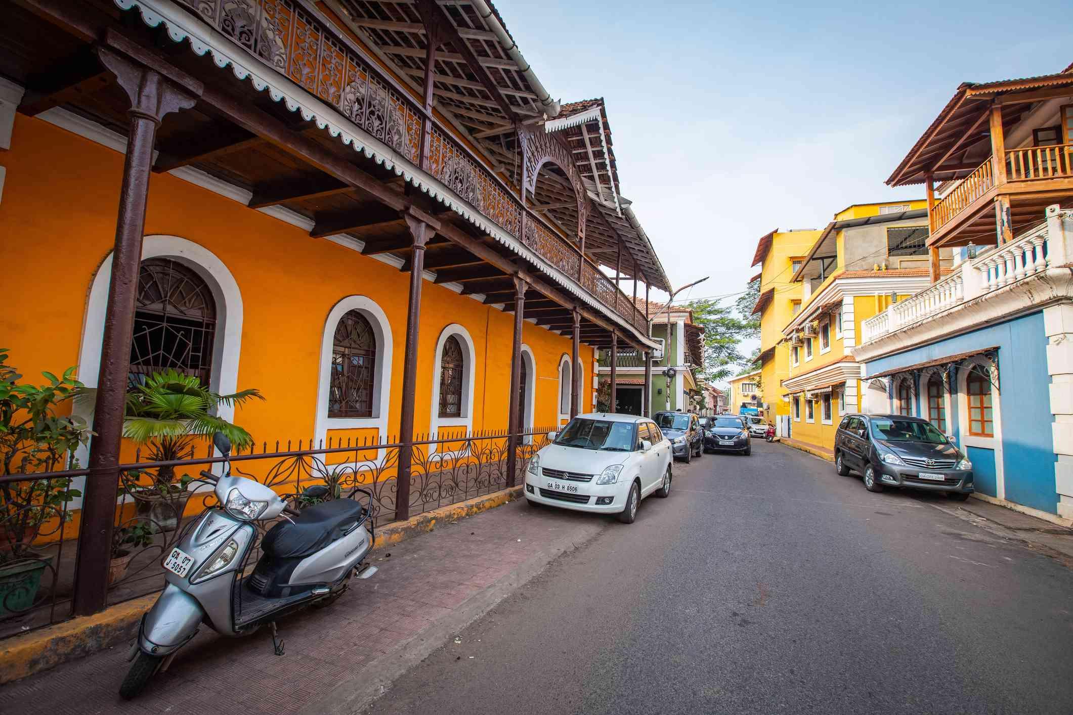 Street in Goa's Fontainhas Latin Quarter.