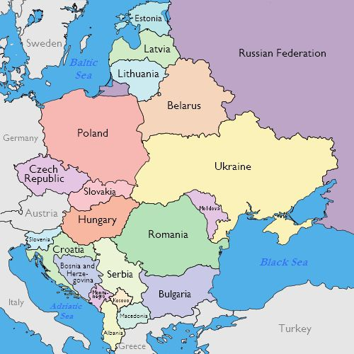 Map Of The Whole World Labeled.Maps Of Eastern European Countries