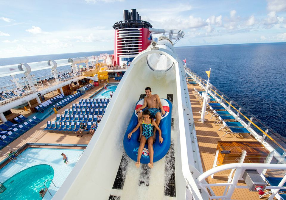AquaDuck Water Coaster On The Disney Fantasy