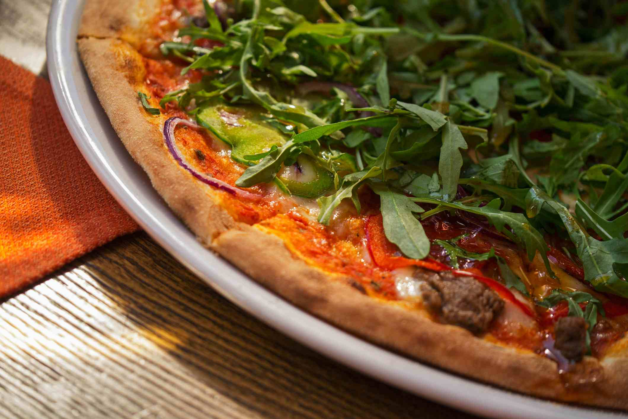 Roman pizza with arugula