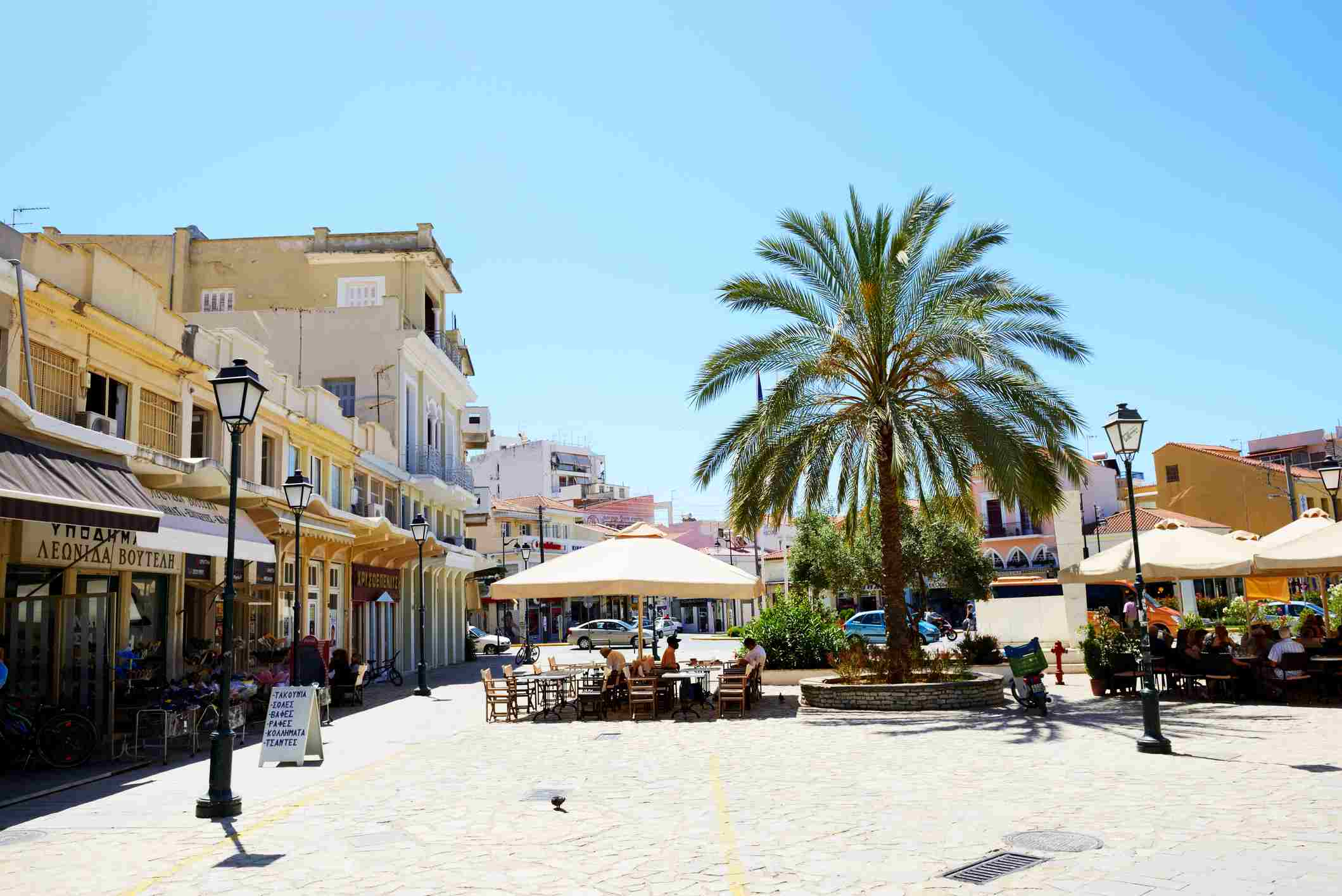 Cafes in the old city, Kalamata