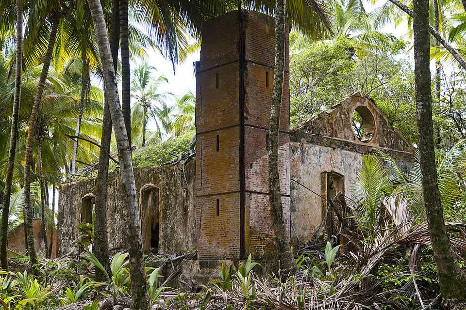 The ruins of the penitentiary known in France as the bagne de Cayenne, (French: Cayenne penal colony) on Devil's Island in the Caribbean Sea off French Guiana