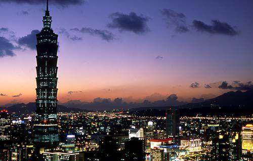 Taipei Taiwan at night
