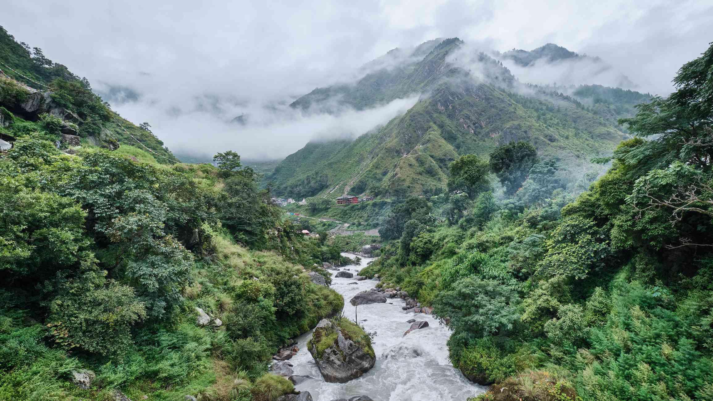 Langtang Khola intersecting Trishuli River