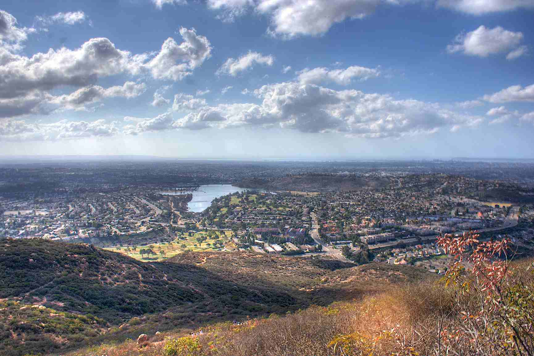 View of Lake Murray from Cowles Mountain