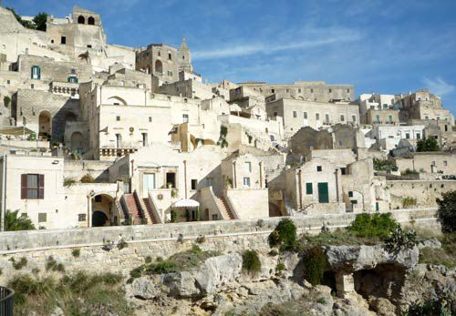 View of the Sassi in Matera