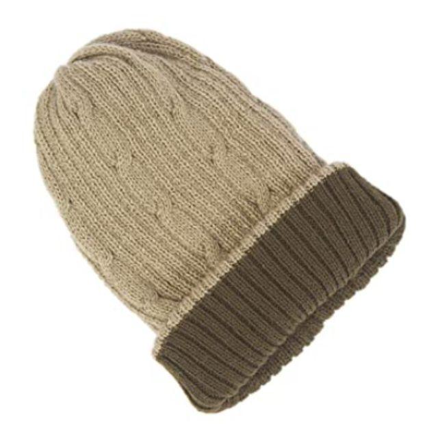 RAYMIS Reversible Knit Alpaca Wool Beanie