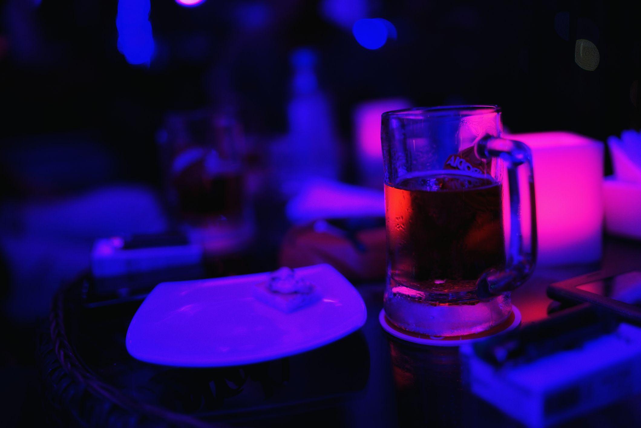Drinks in Phnom Penh bar