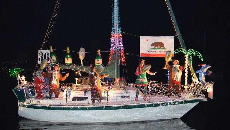 Boat at the Naples Holiday Parade