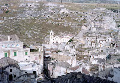 View of Matera Sassi