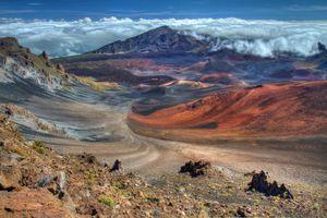 Haleakala Volcano Crater on the island of Maui, Hawaii