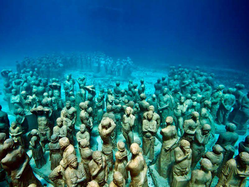 Sculptures form a reef
