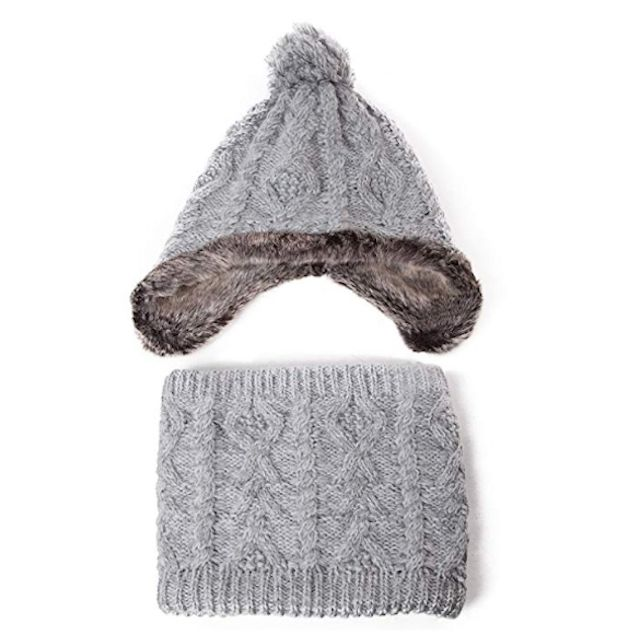 70bd400a3e036 Best for Warmth  SIGGI Wool Peruvian Earflap Beanie and Neck Warmer
