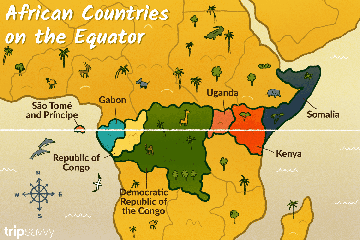 Which African Countries Are Located on the Equator? on african industries map, yemen map, north america, south america, nigeria map, african borders map, canada map, african world map, france map, african landforms map, african people map, egypt map, european map, african provinces map, african governments map, new zealand map, australia map, middle eastern map, african flags map, middle east, united states of america, europe map, sahara desert map, cambodia map,