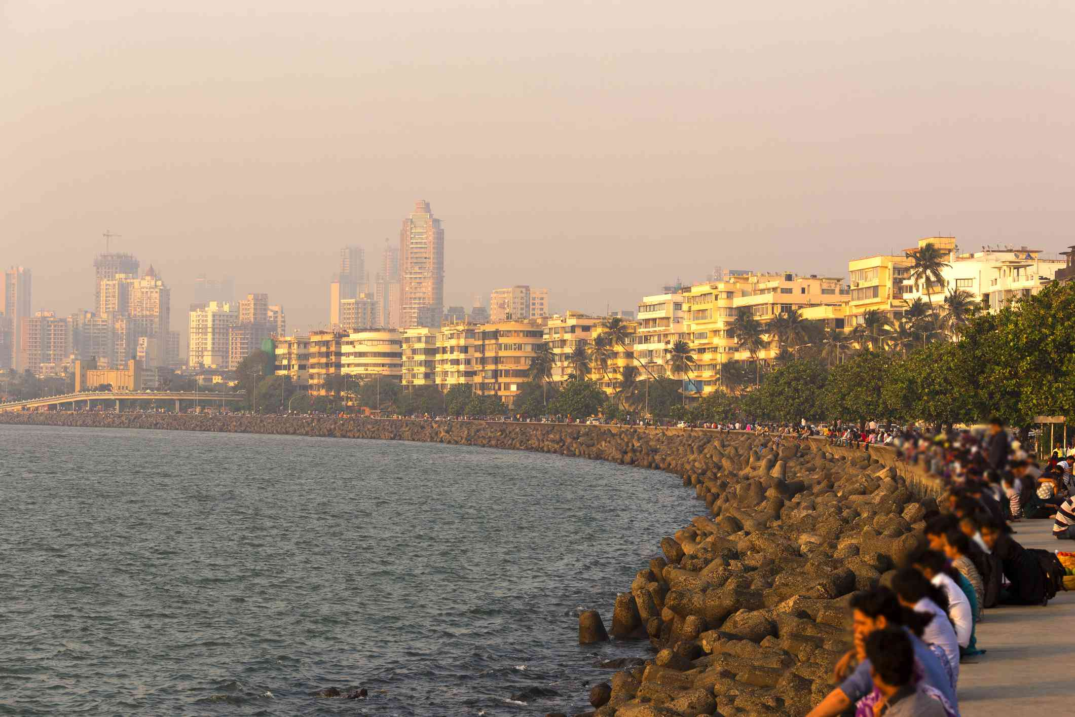 Sunset on Marine Drive, Mumbai