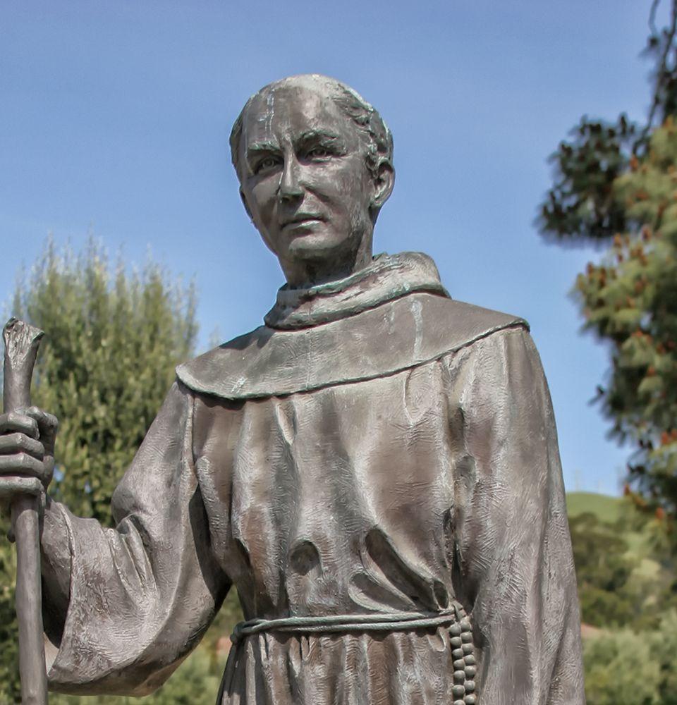 Statue of Father Lasuen at Mission San Jose