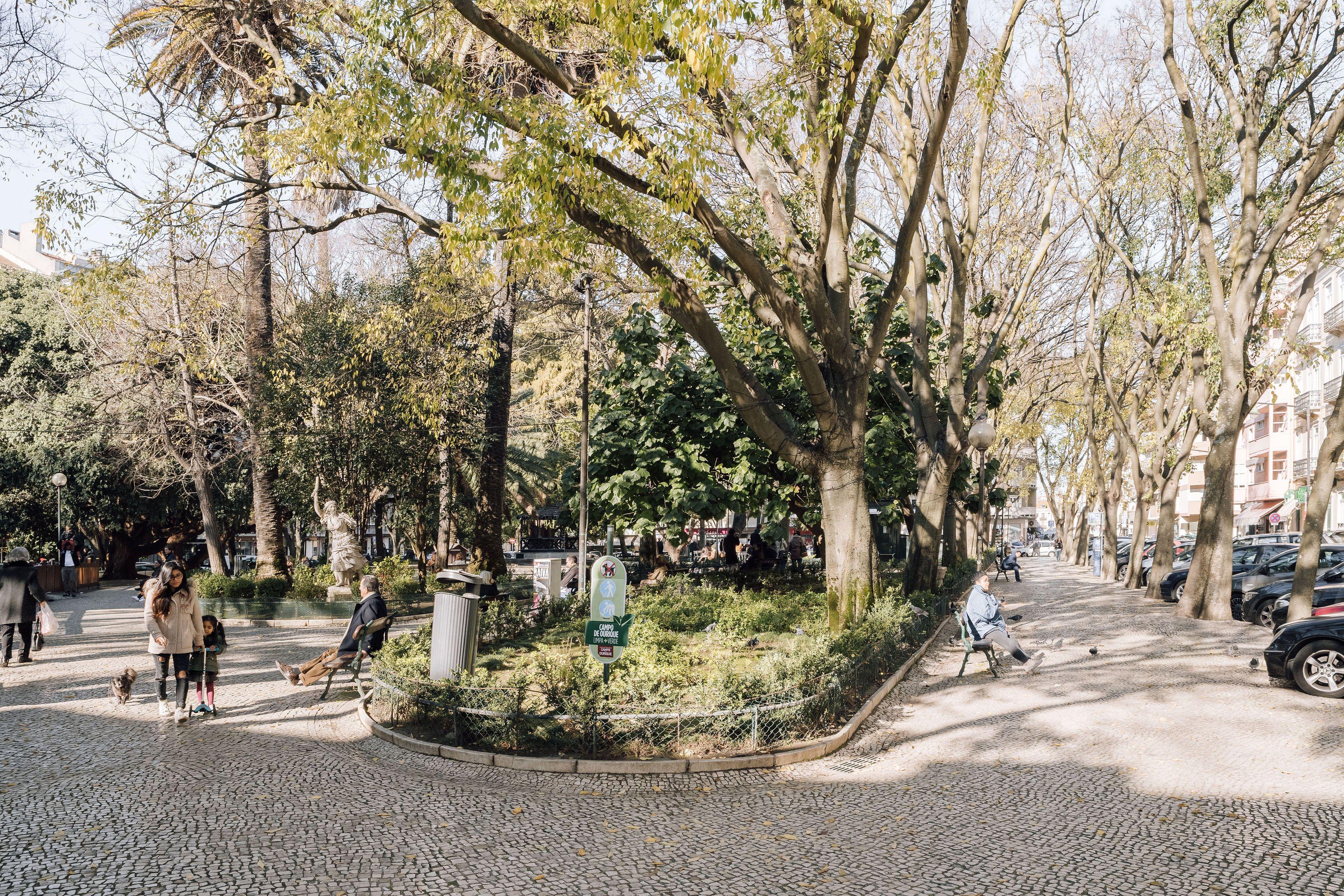 A public park in Lisbon