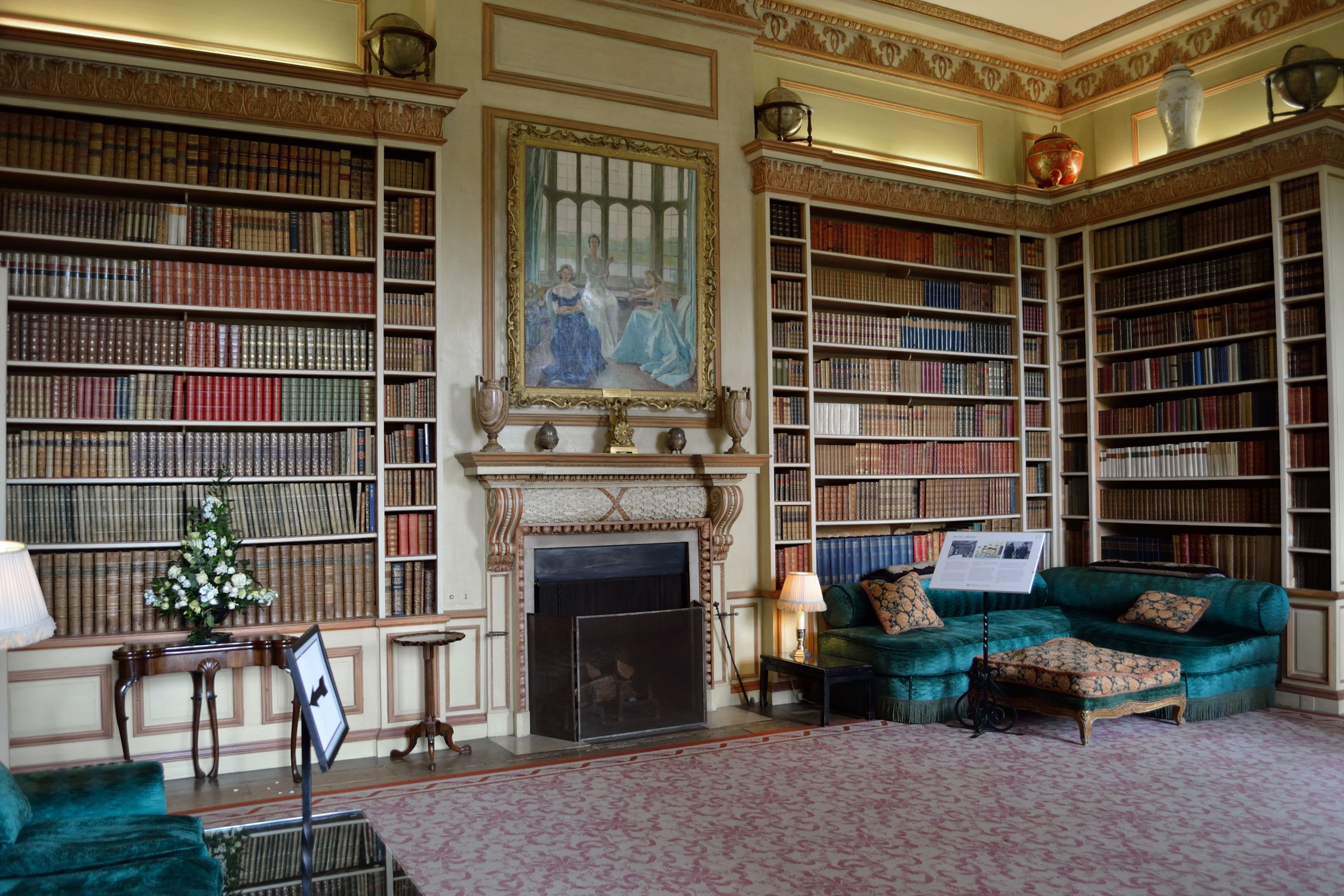 Library at Leeds Castle