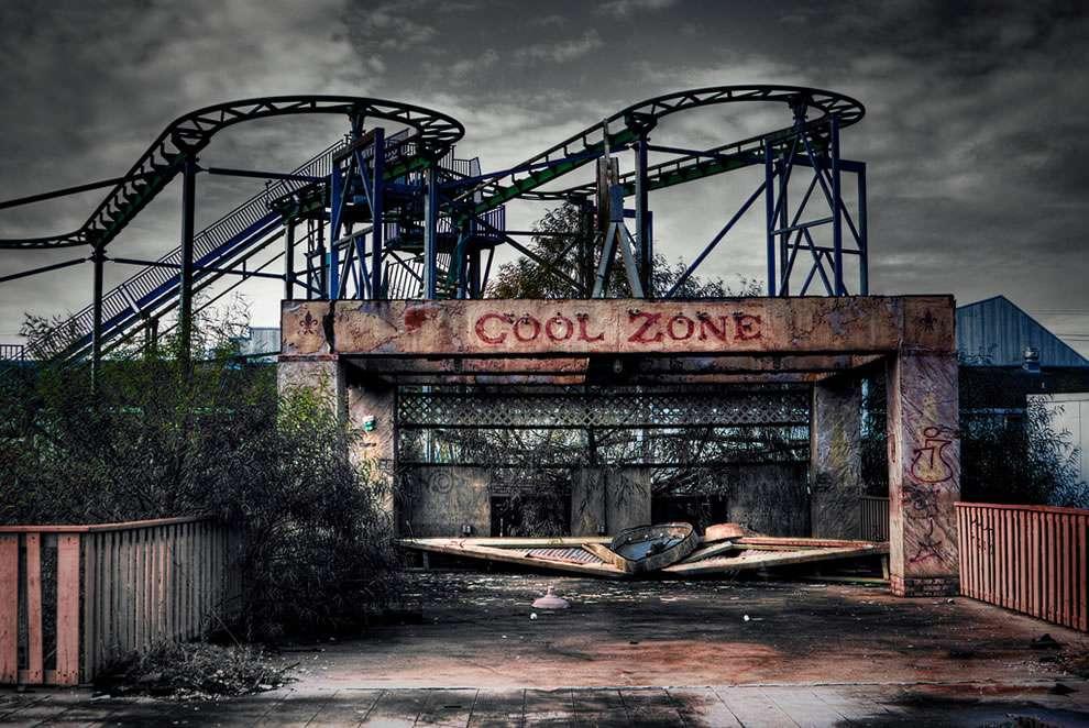 Six Flags New Orleans abandoned amusement park