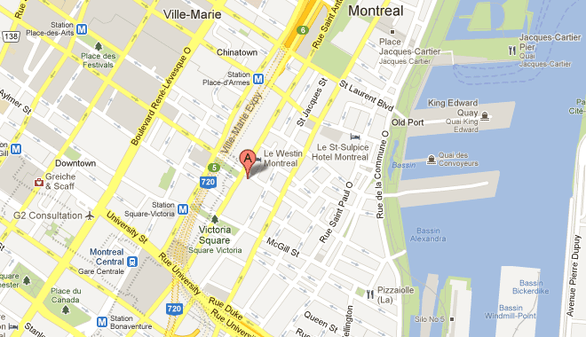 Mapa del Hotel InterContinental