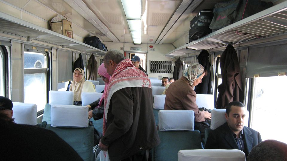 Inside Tunisian Train, First Class, Tunis to Gabes