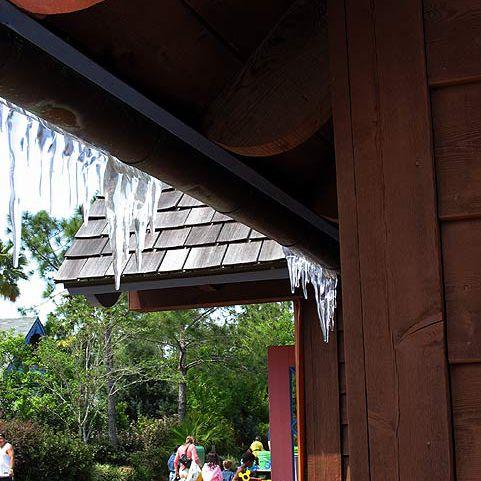 """Icicles"" drip from Lottawatta Lodge."