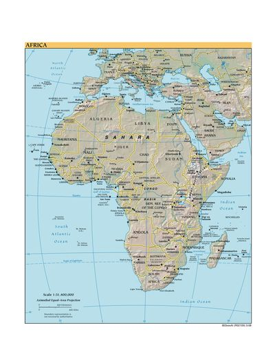 How Big Is Africa Map Various Maps Showing How Big Africa Is