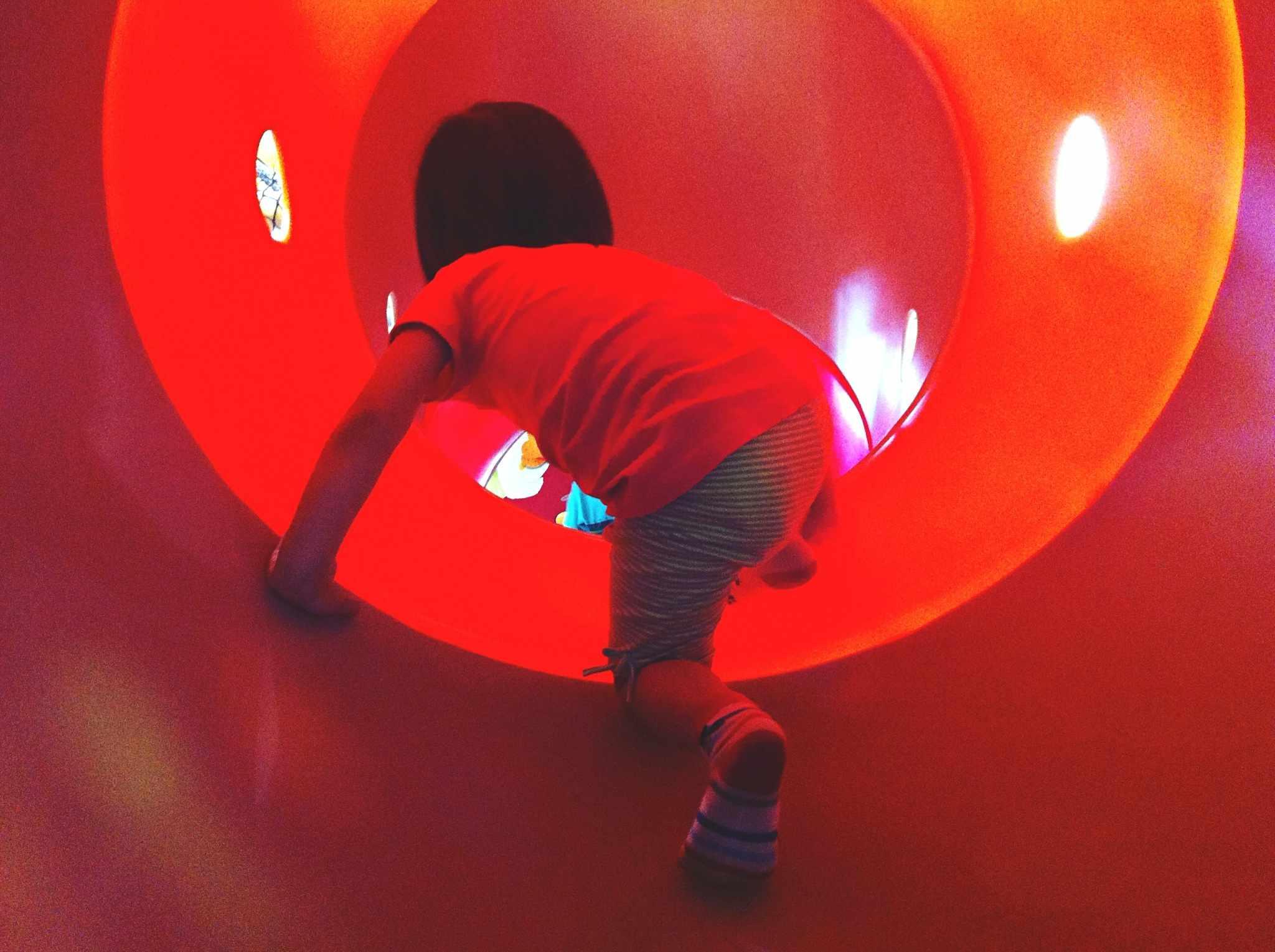 Boy in playground fields