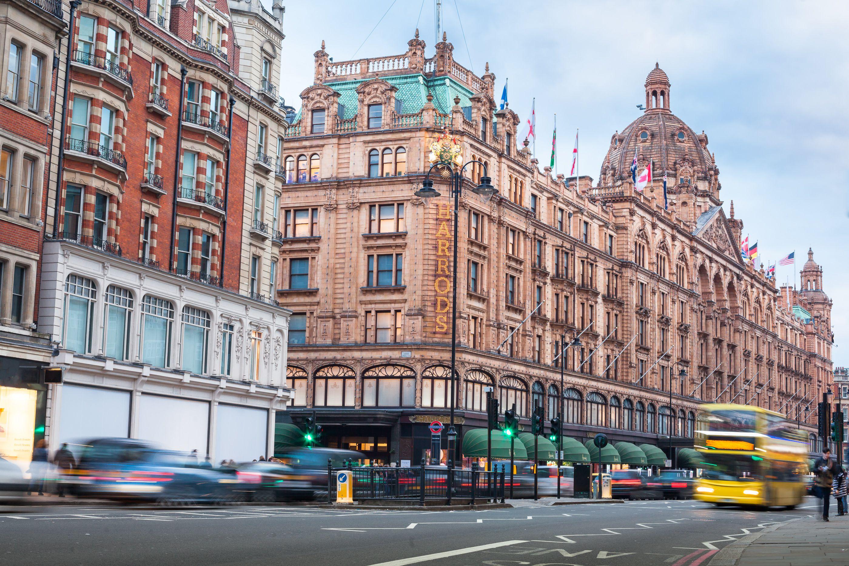 Harrods department store in Knightsbridge, London, UK