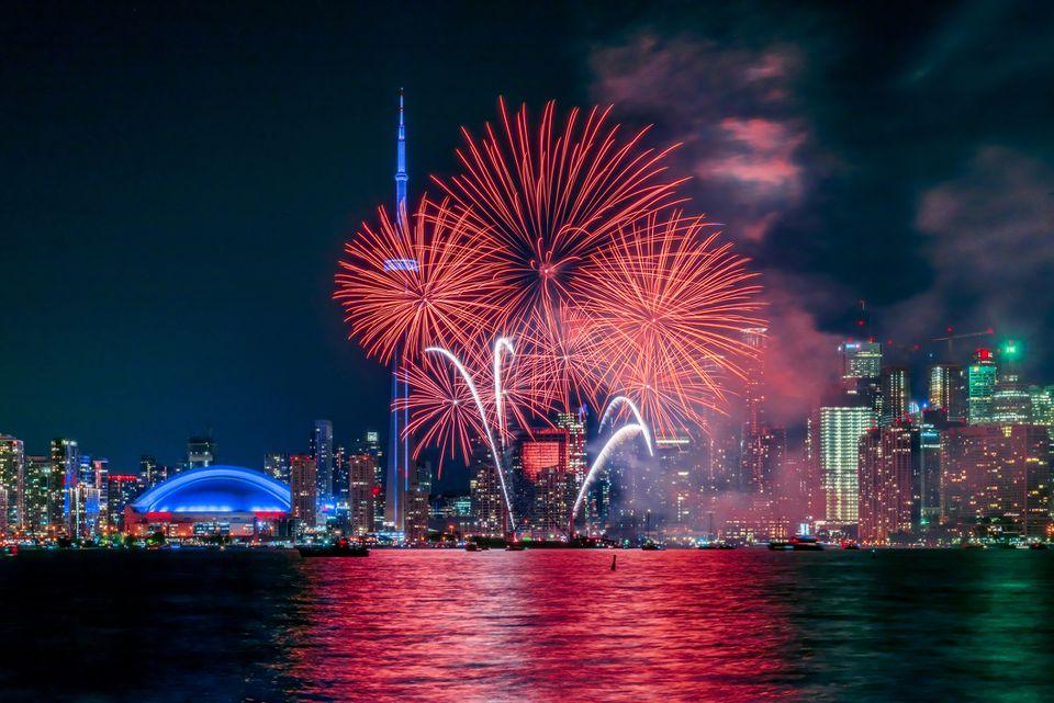 Toronto - Fuegos artificiales del día de Canadá
