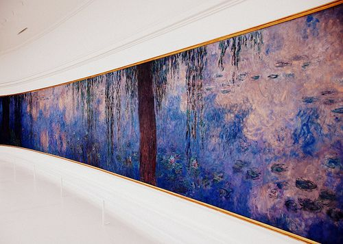 "A section of Claude Monet's ""Les Nymphéas"", at the Musée de l'Orangerie in Paris."