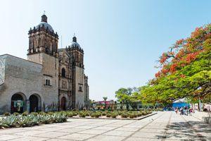 Santo Domingo Church in the center of Oaxaca