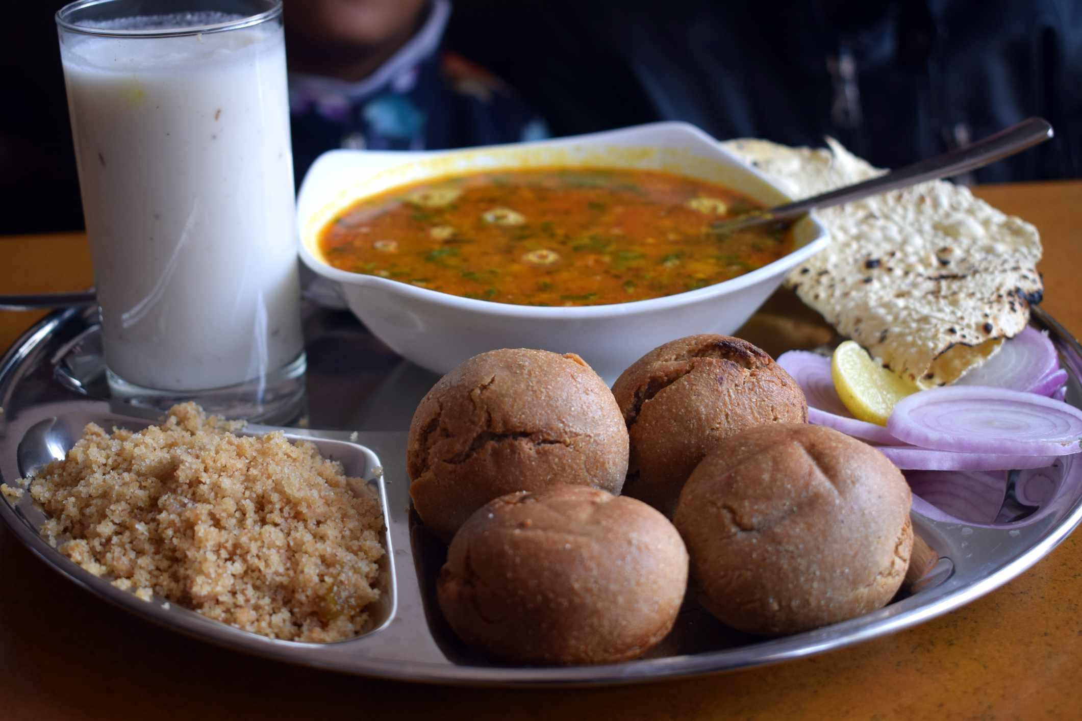 Dal bati choorma - famous rajasthani cuisine