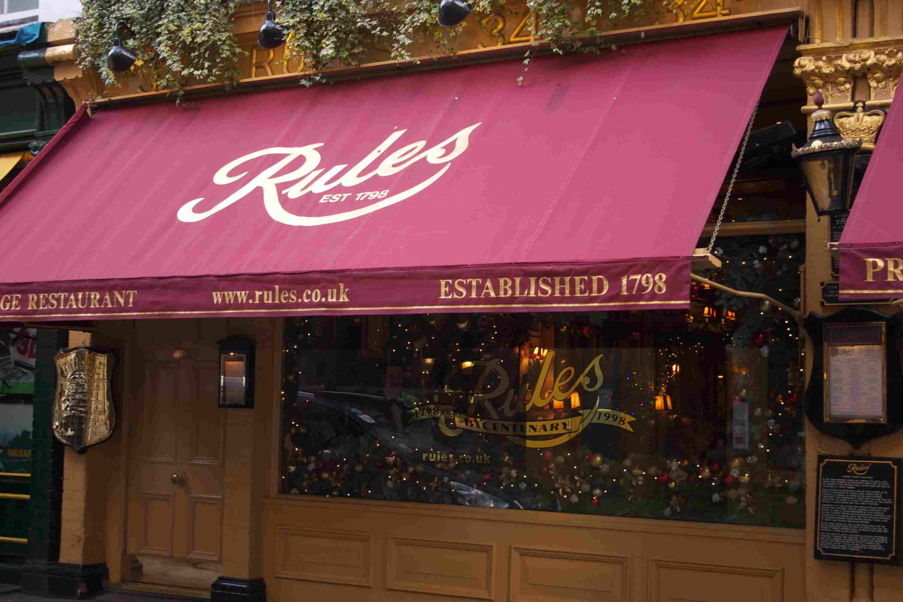Rules restaurant, London