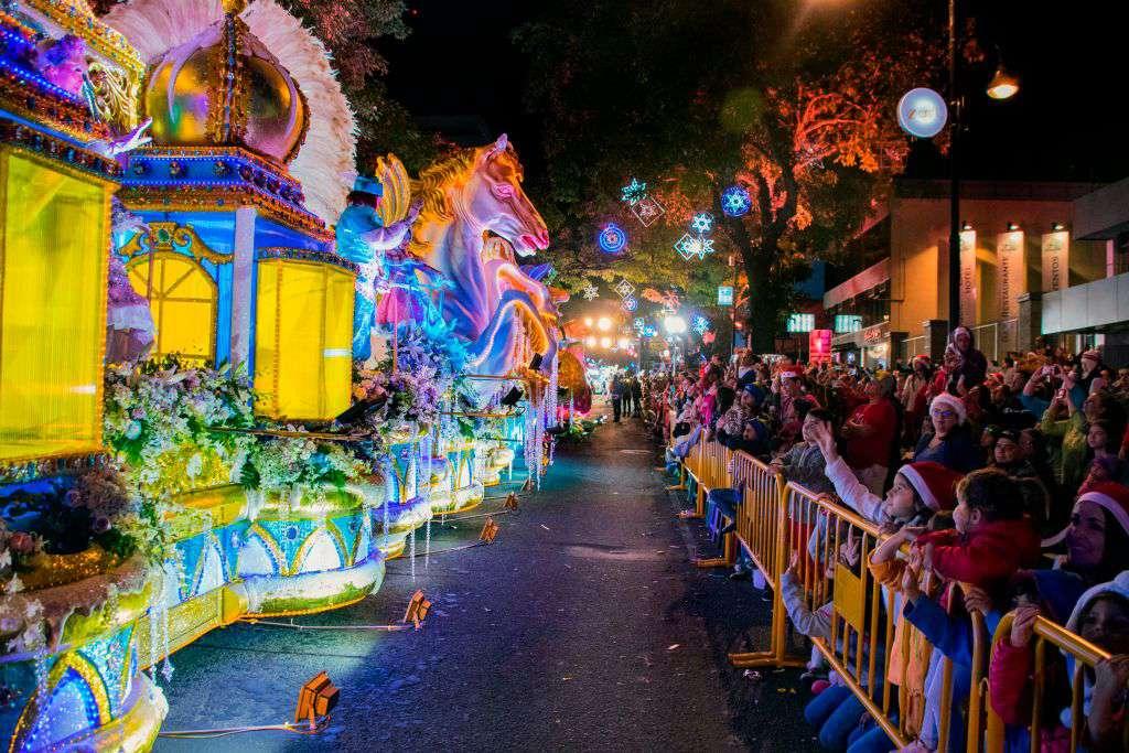 Parade of Lights in San Juan, Costa Rica