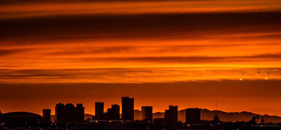 Sunset skyline Phoenix