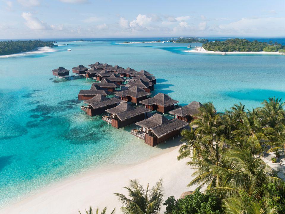 Ananatara veli resort aerial view of Maldives