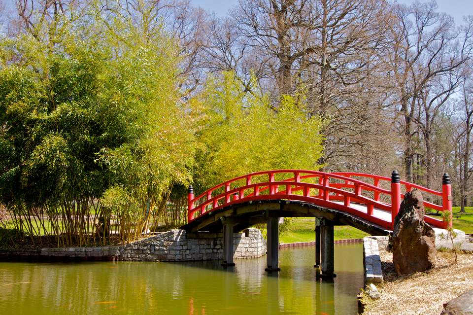 Japanese Bridge at Memphis Botanic Garden