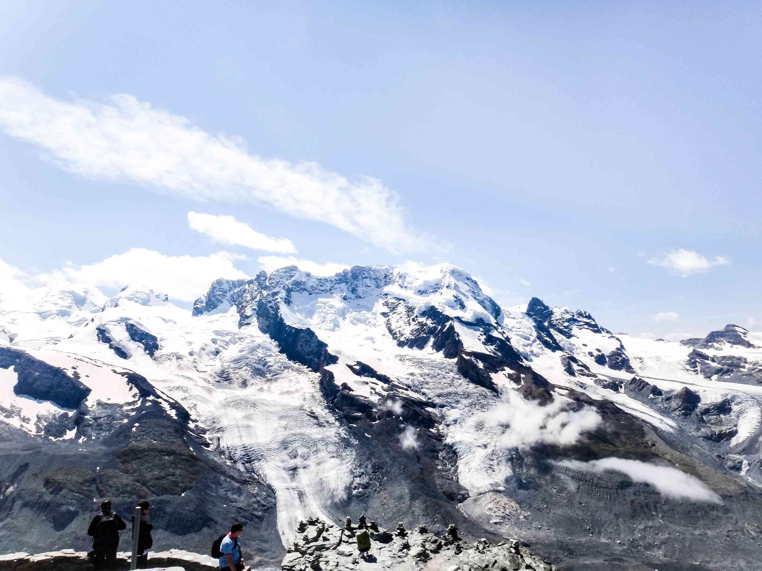 Snowy mountain tops of Zermatt