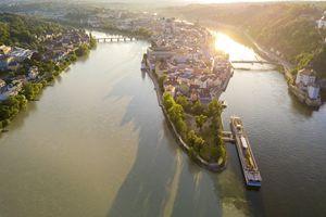 Passau's three rivers, Danube, Inn and Ilz