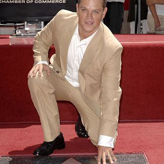 Matt Damon gets his star on the Hollywood Walk of Fame