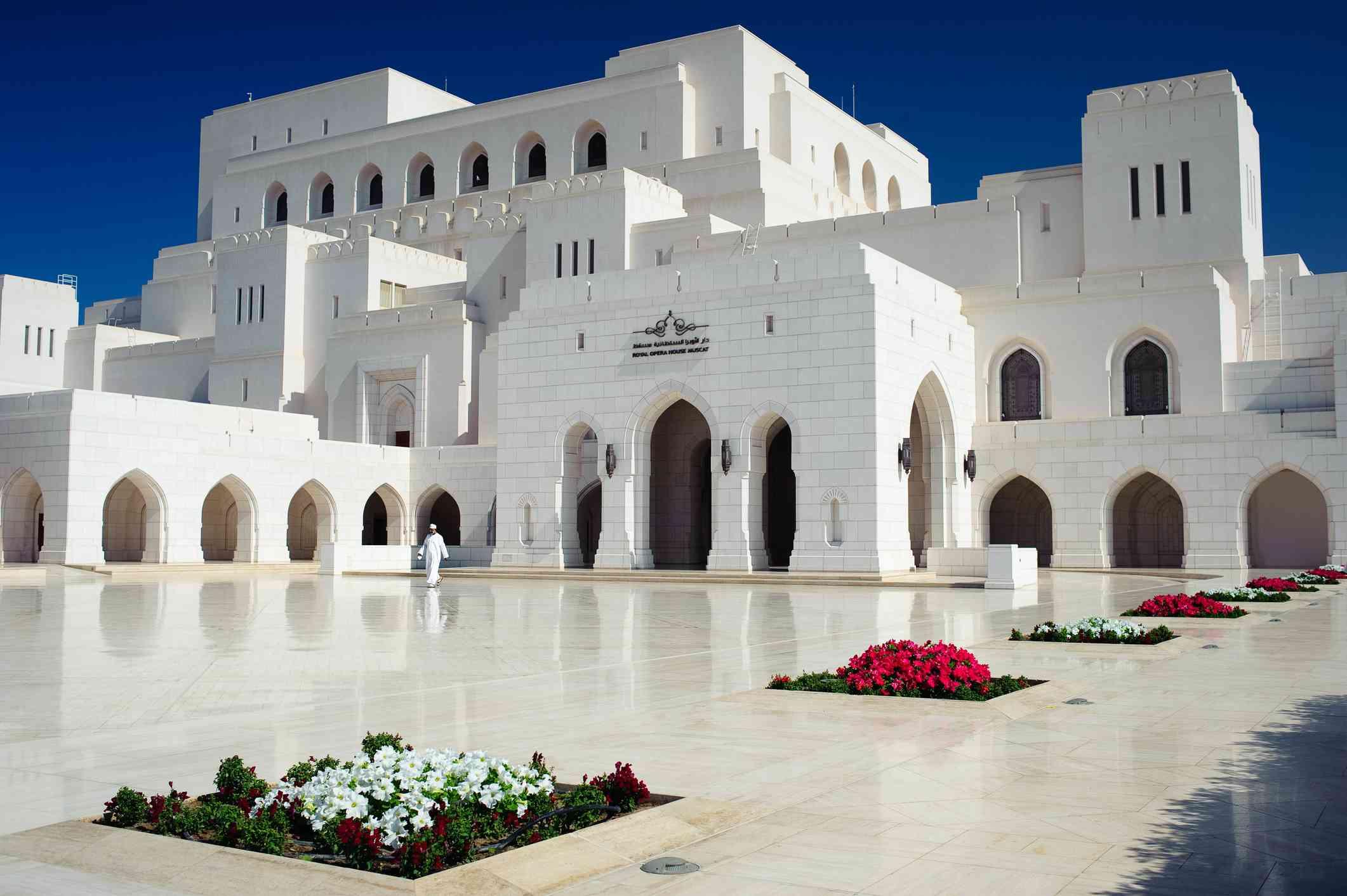 Bright white Royal Opera House Muscat