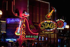 Nashville Honky Tonks at night