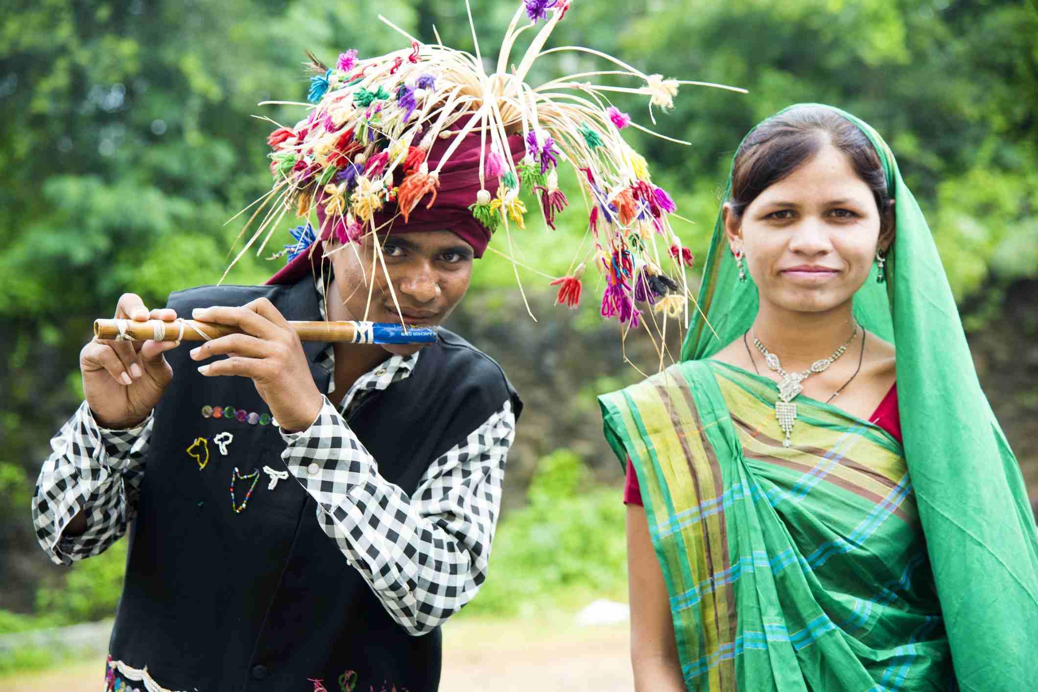 Gondi tribal folk Dance, Maharashtra, India.