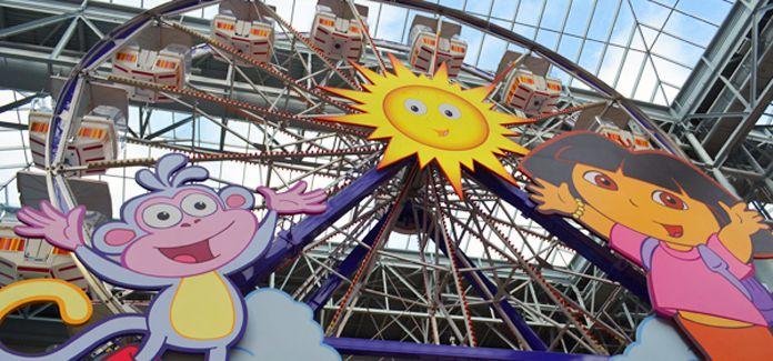Ferris wheel at Nickelodoen Universe.