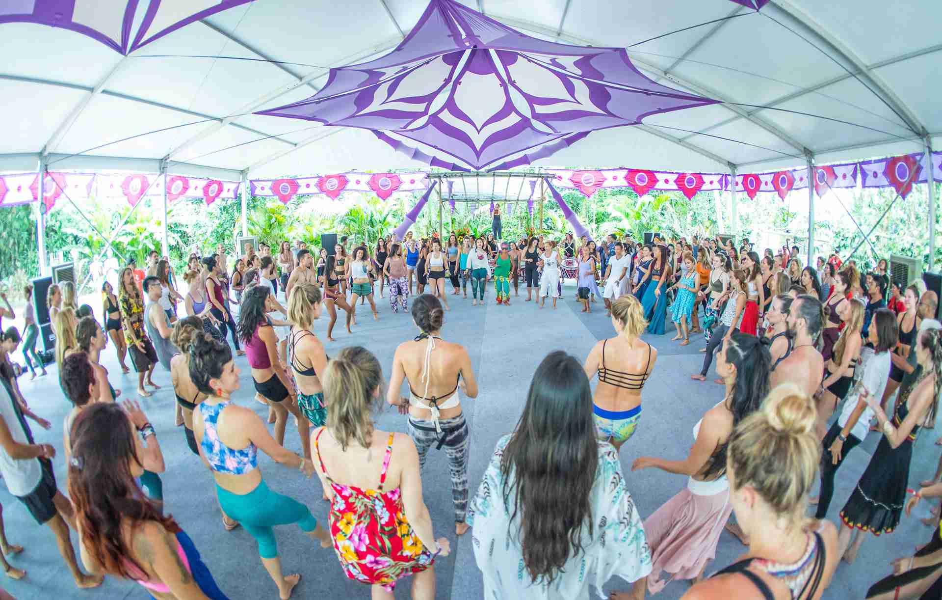 Yoga session at Bali Spirit Festival