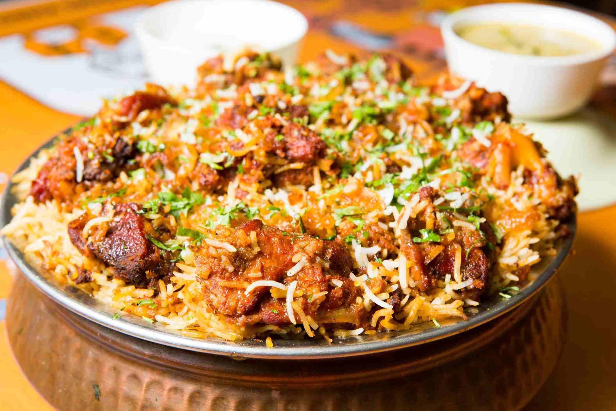 Hyderabadi biryani.
