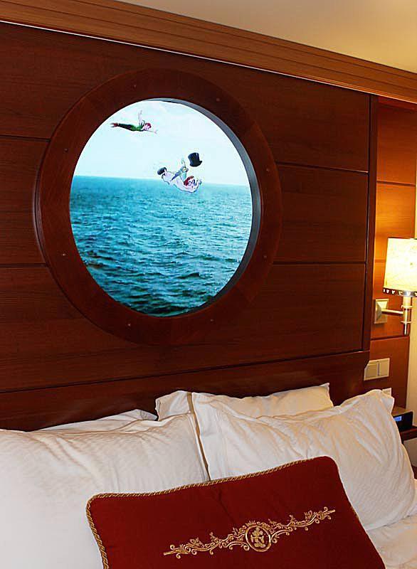 Magical portholes on the Disney Fantasy Cruise Ship